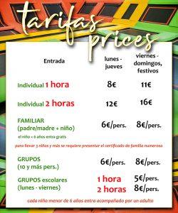 Tarifas Canary Jump - tu parque de trampolines en Tenerife